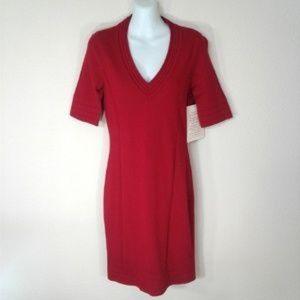 Boston Proper Red Knit Dress Form Fitting Small
